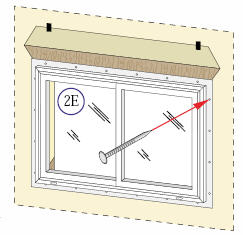 Nail the Window in place